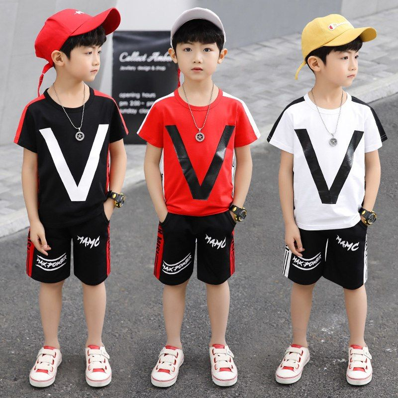 Cute Toddler Boys Kids Outfits Short Sleeve T-shirt Shorts Casual Clothes Set