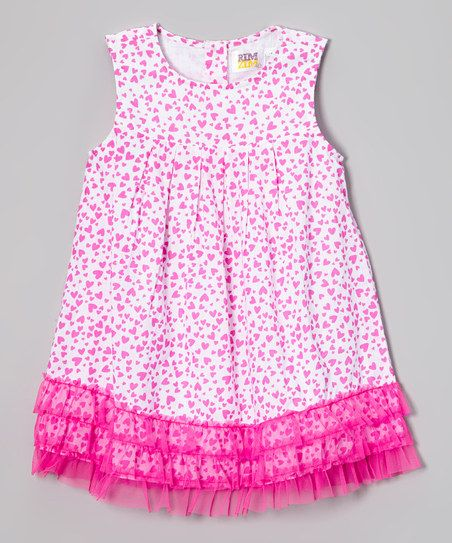 Pink Floral Ruffle Swing Dress - Infant, Toddler & Girls