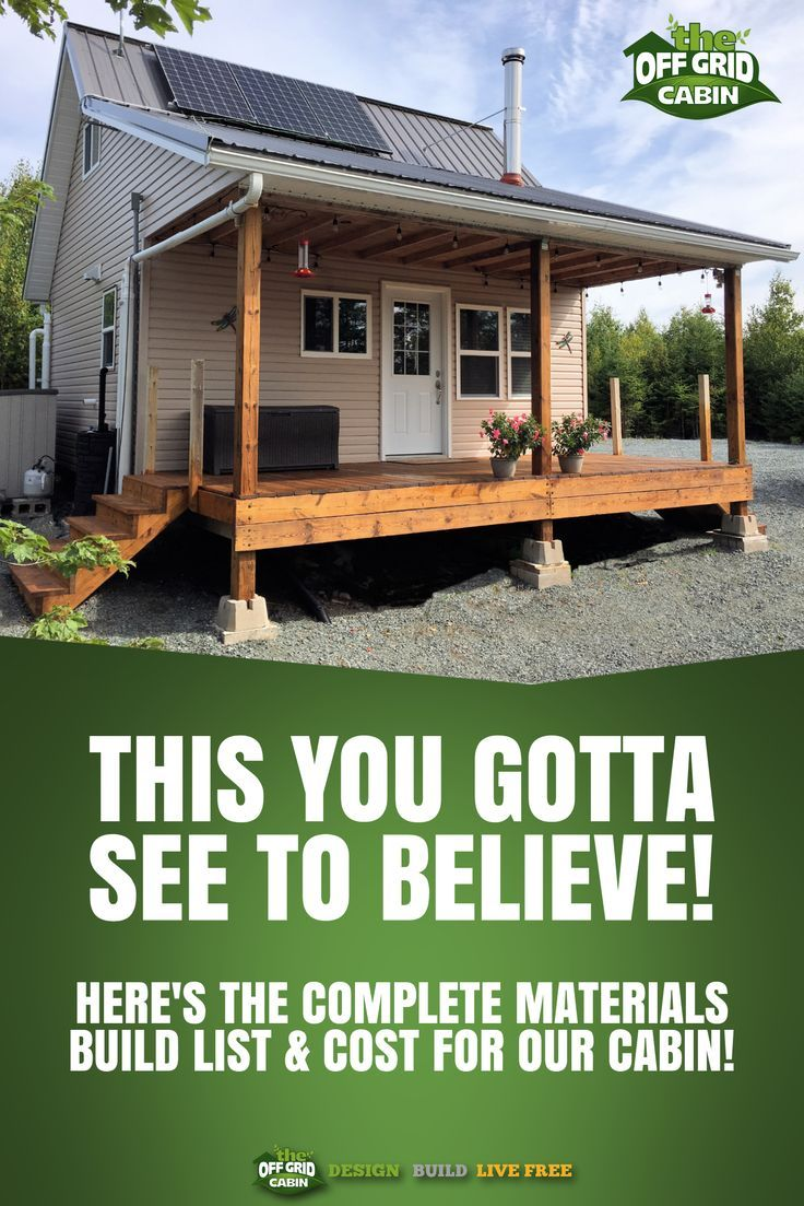 Download our complete off grid cabin materials build pdf homestead