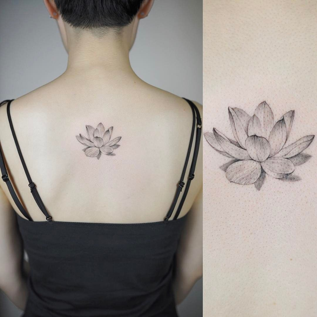 Lotus Tattoo Tattoodesign Lotustattoo Linetattoo