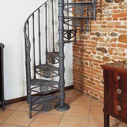Escalera de caracol de forja art stica casa pinterest for Ver escaleras de caracol
