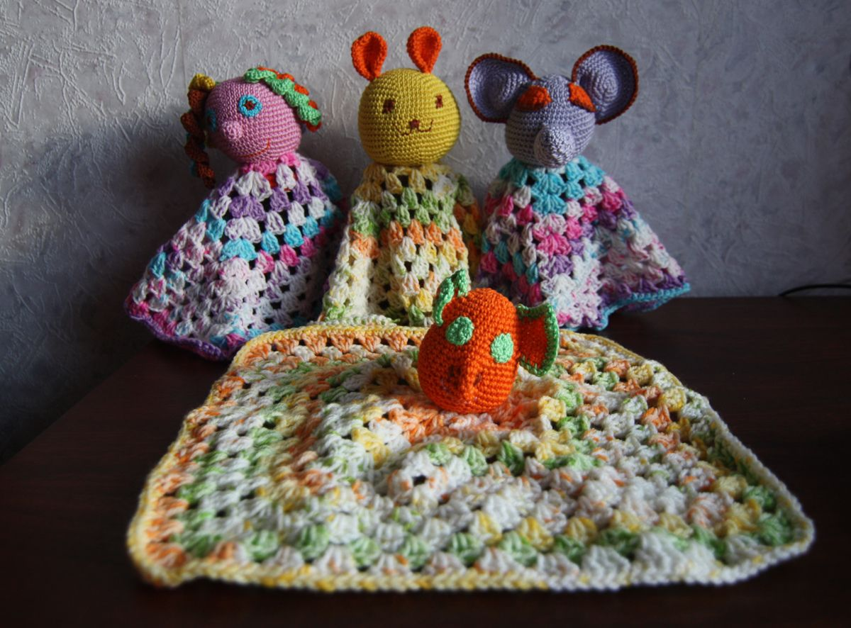 Crochet bedtime buddies for babies