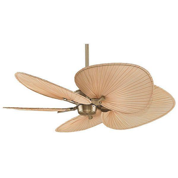 Islander Palm Ceiling Fan Beige Ceiling Fans 425 Liked On Polyvore Featuring Home Home Decor Fans L Ceiling Fan Tropical Ceiling Fans Brass Ceiling Fan