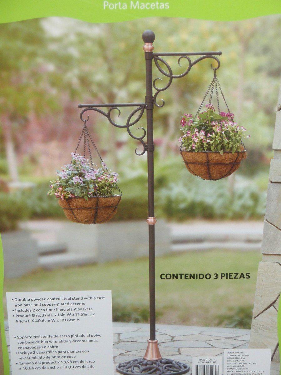 Porta macetas huerto y jardiner a pinterest wrought for Figuras jardin baratas