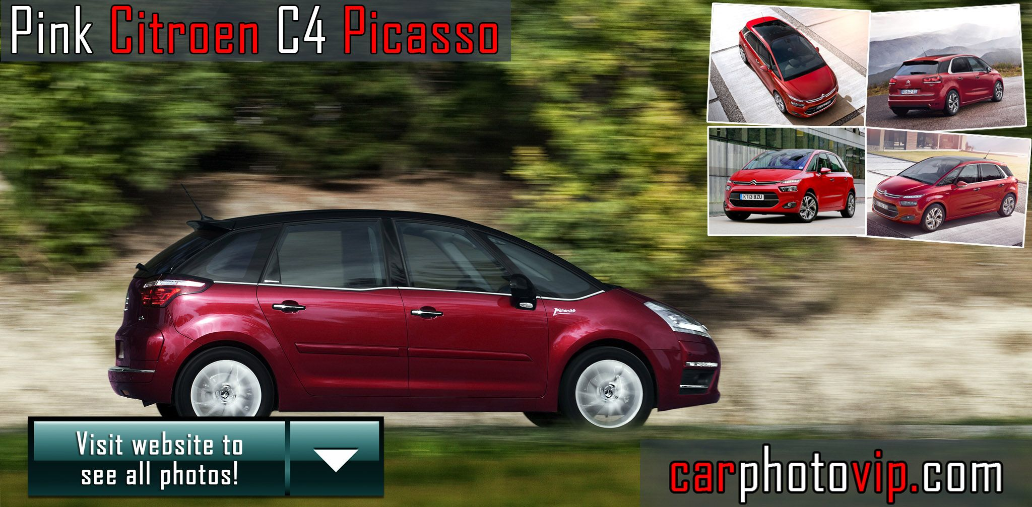 Pink Citroen C4 Picasso 5 photos 1 car Pinterest