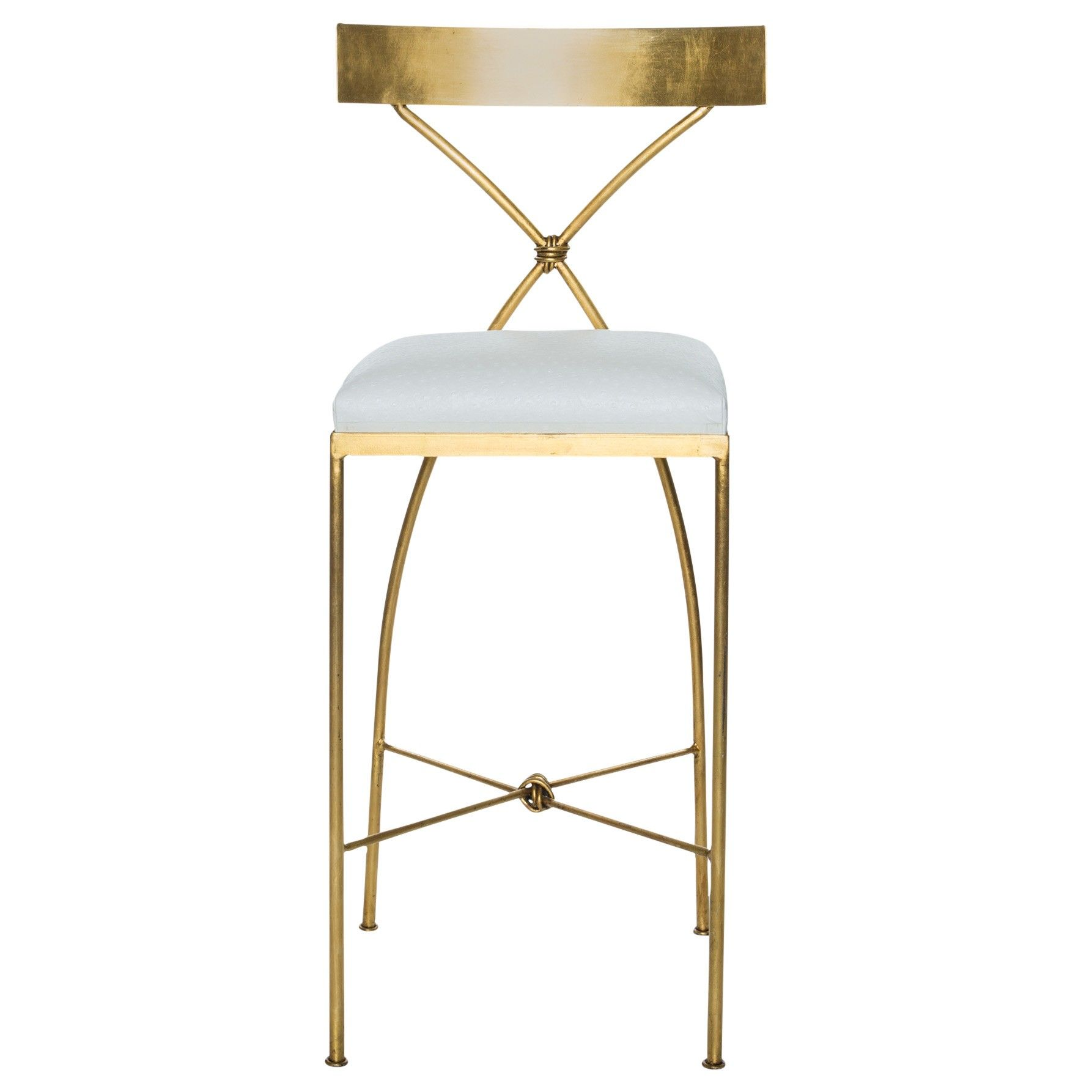 The Ivey Bar Stool has elegantly sloping legs and a slightly curved