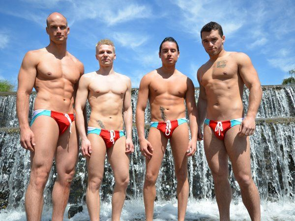 These photos of the Mr Gay World 2012 delegates in Bone Wear swim wear were taken during the 'Sports  Challenge' event, held on Friday 6 April in Johannesburg.