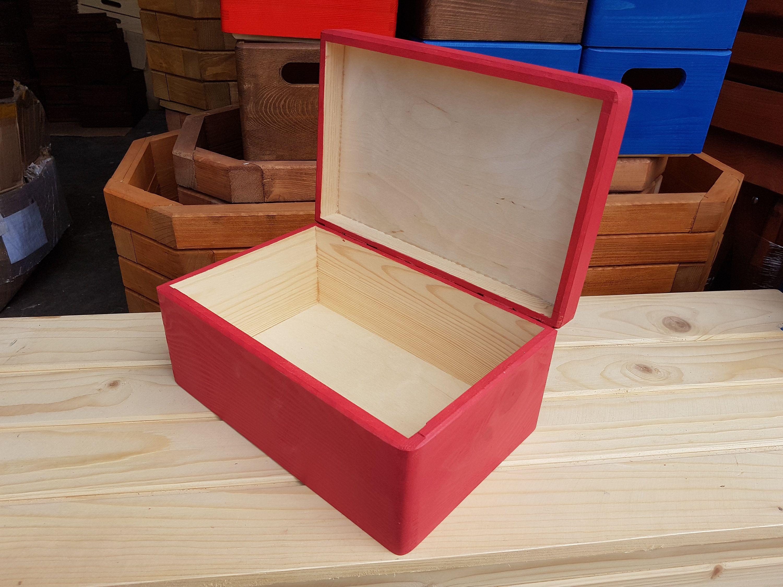 Plain Wood Wooden Box, Wooden Chest, Trinket Box, Box For