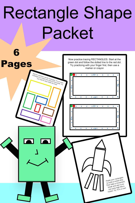 Rectangle Shape Worksheet Packet In 2020 Teacher Resources Teachers Pay Teachers Seller Elementary Resources