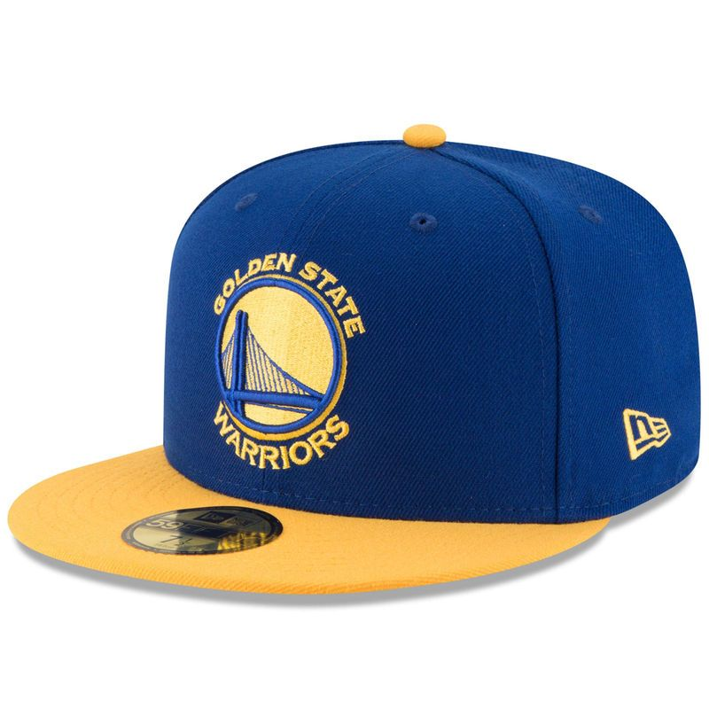 7ed60fc5c2869f Golden State Warriors New Era Official Team Color 2Tone 59FIFTY Fitted Hat  - Royal/Gold