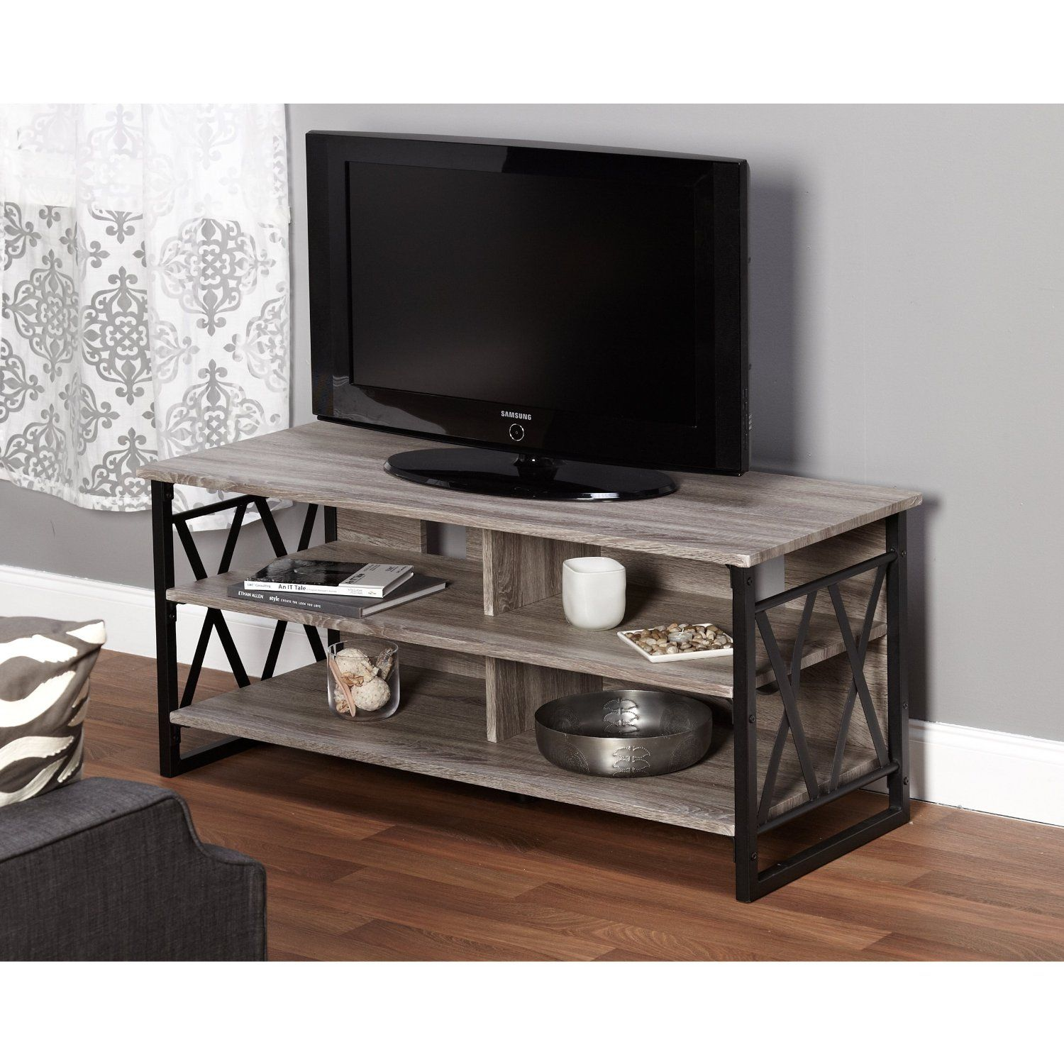 Amazon Metro Shop Seneca XX 48 inch Black Grey TV Stand