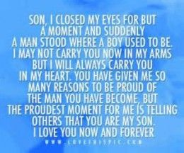 My Son Is Turning 30 Wow I Wrote This For Him A Poem Saying How Much His Father And Love