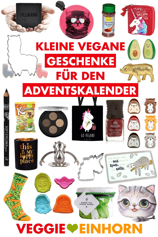 Kleine Geschenke für den veganen Adventskalender