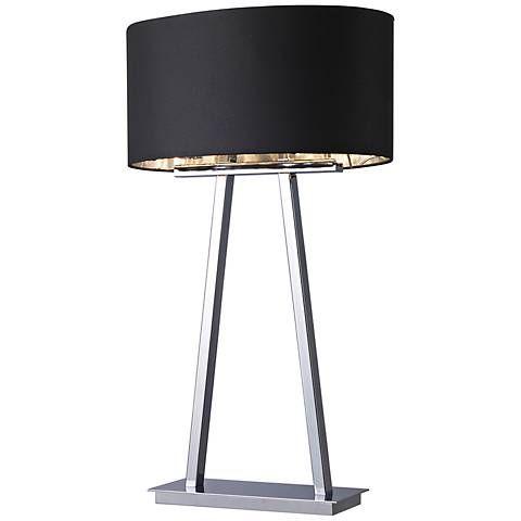Central Park Empire Chrome 2-Light Table Lamp - #7R063 | Lamps Plus