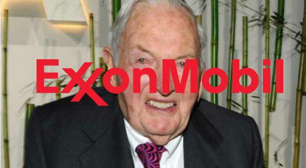 olie- en gasreus Exxon Mobil heeft de Rockefellers beschuldigd van een samenzwering om de klimaatverandering mastermind
