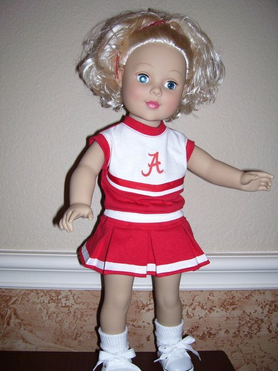 18 inch Doll Clothes- Alabama Cheerleading Outfit #18inchcheerleaderclothes 18 inch Doll Clothes Alabama Cheerleading Outfit by dressupdollie #18inchcheerleaderclothes