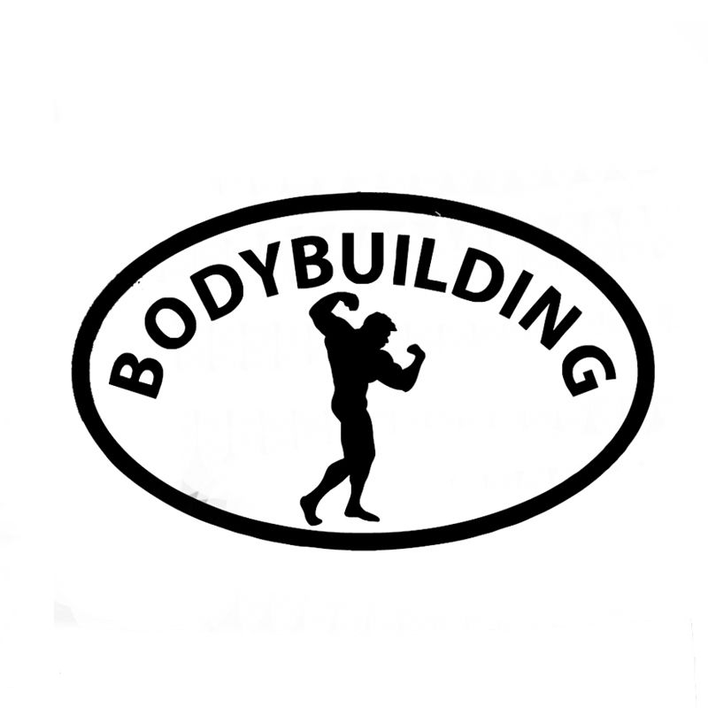 Wholesale 10pcs lot 20pcs lot bodybuilding quote car decal muscle man oval car bumper window sticker