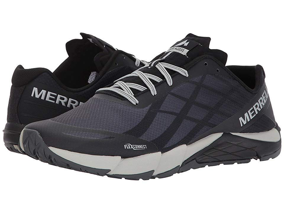Merrell Bare Access Flex Men s Shoes Black Silver  802225080