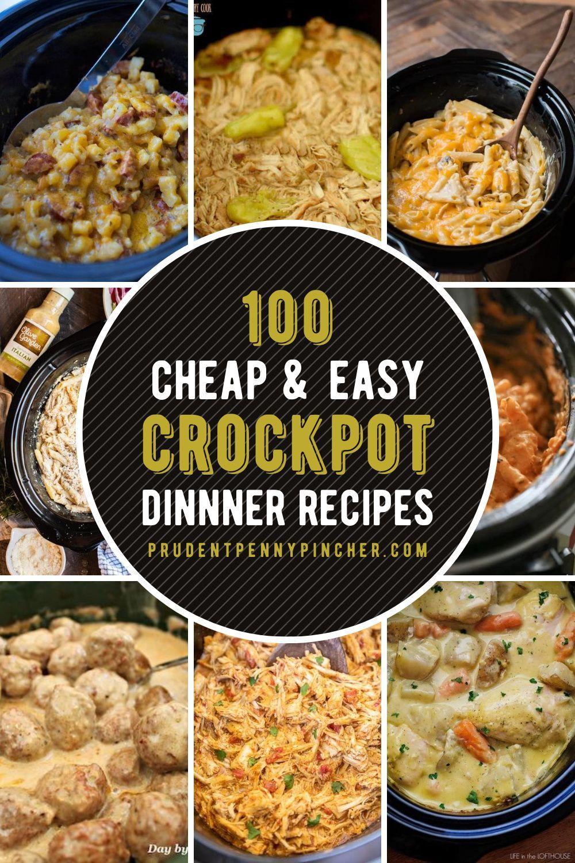 100 Cheap And Easy Crockpot Recipes Easy Crockpot Crockpot Recipes Easy Chicken Crockpot Recipes
