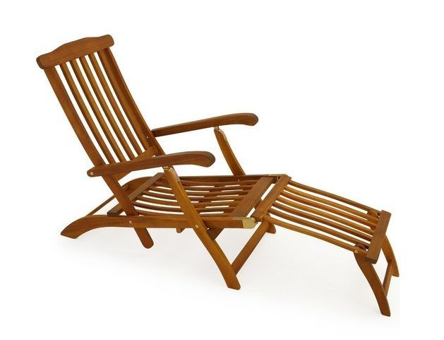 Sun Lounger Bed Folding Patio Recliner Wooden Deck Chairs For Garden Patio  Pool