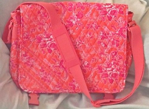 Paisley In Red Messenger Bag Cross Body Laptop School Work Bag