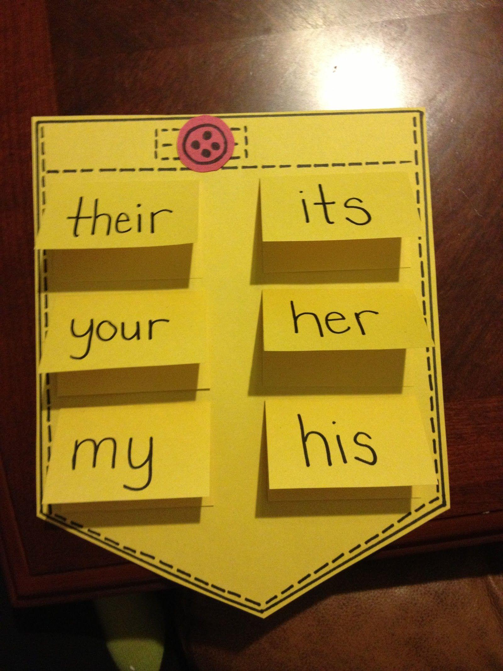 Pocketful Of Possessive Pronouns Lesson