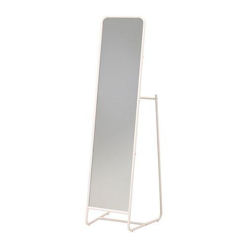 KNAPPER Miroir sur pied blanc
