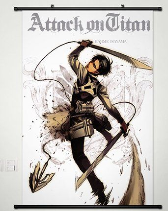 Home decor anime attack on titan shingeki no kyojin cosplay wall attack on titan shingeki no kyojin cosplay wall scroll poster fabric painting levi x quickly view this special product click the image diy do it solutioingenieria Images