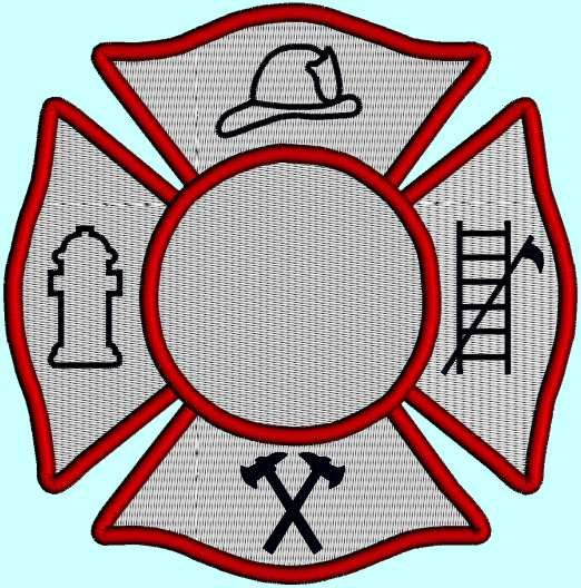 Maltese Cross Fireman Badge Fireman Symbol by