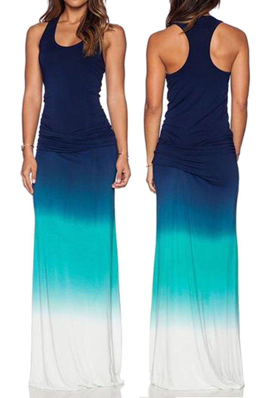 Wiwiqs Women S Tie Dye Ombre Dress Tank Top Casual Maxi Long Dress Affiliate Short Sleeve Summer Dresses Long Maxi Dress Dresses [ 1500 x 1000 Pixel ]