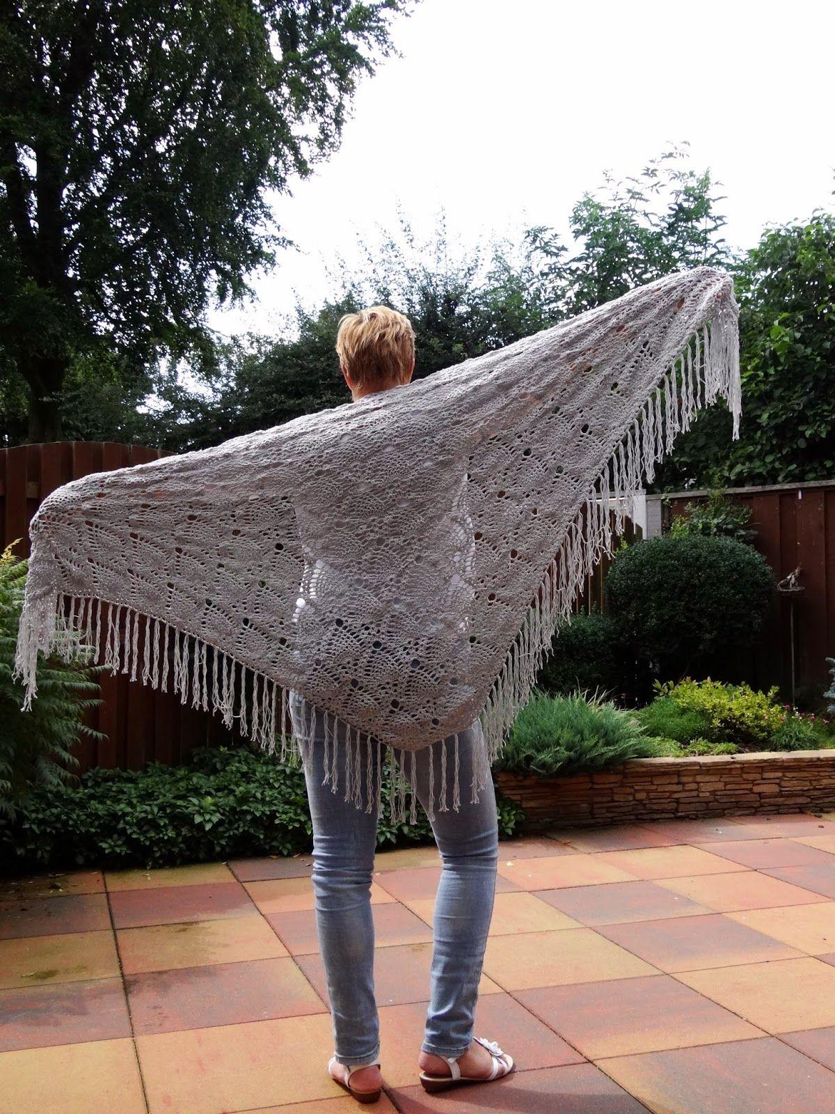 Sidewalk Shawl Gratis Patroon Nederlands Ananas Sjaal Crochet