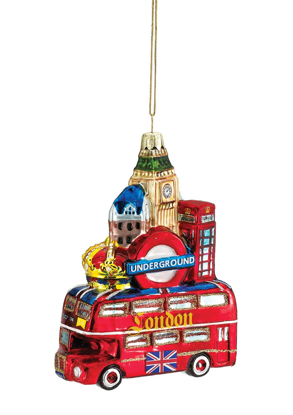 KURT ADLER Glass London City Ornaments christmas