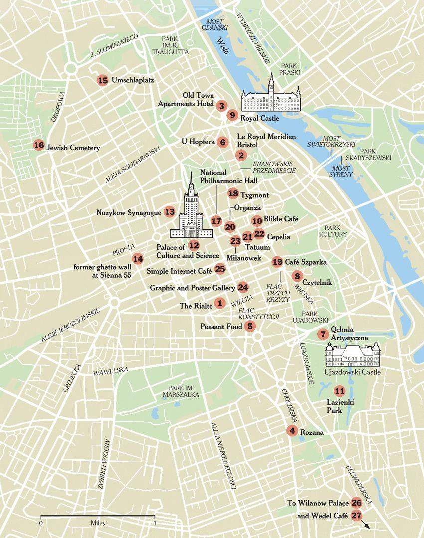warsaw map 2 850—1077 Places Pinterest