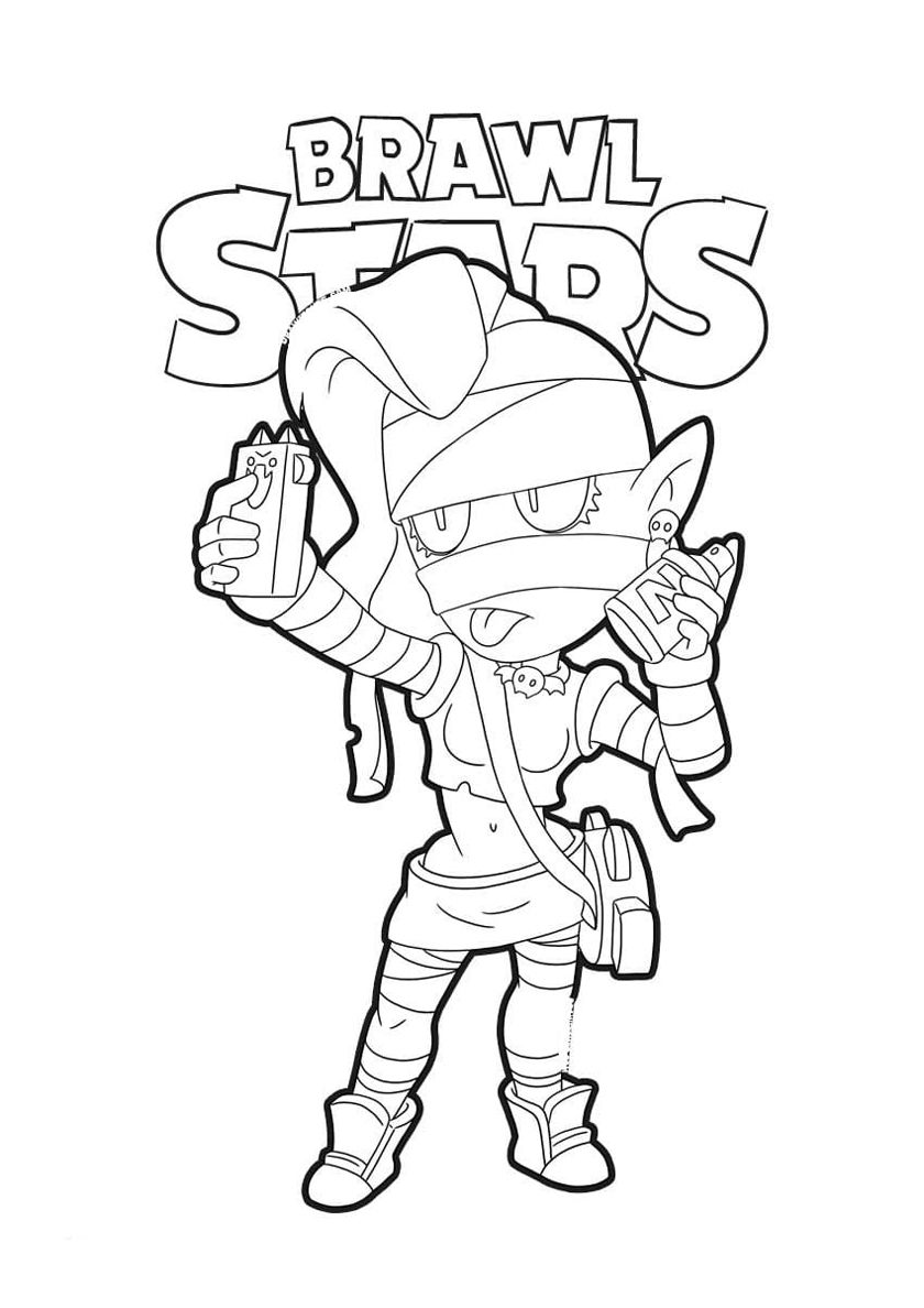 Emz High Quality Free Coloring Page From The Category Brawl Stars More Printable Pictures On Star Coloring Pages Coloring Pages American Flag Coloring Page
