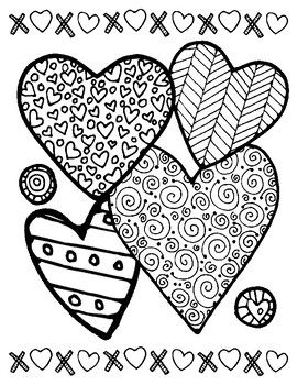 Love To Color Valentine Pages Valentine Coloring Pages
