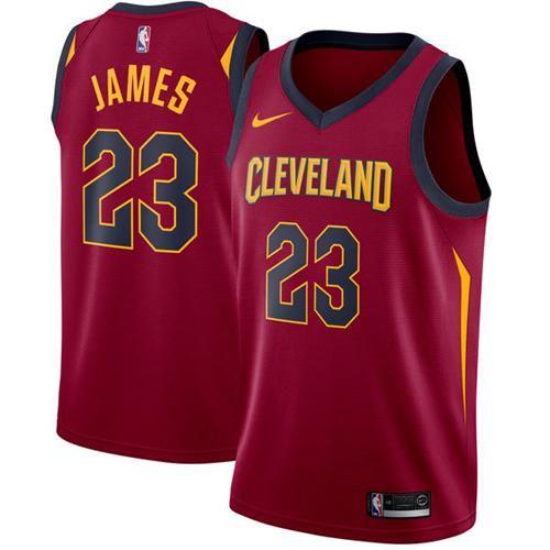 Nike Cavaliers #23 LeBron James Red Stitched NBA Swingman Jersey