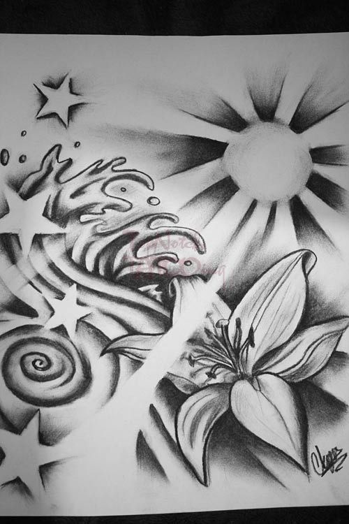 Sun And Star Tattoos Sun Waves Ands Stars By Itchysack Tattoo Designs 11957 Tattoo Designs Star Tattoos Tattoos Sun Tattoos