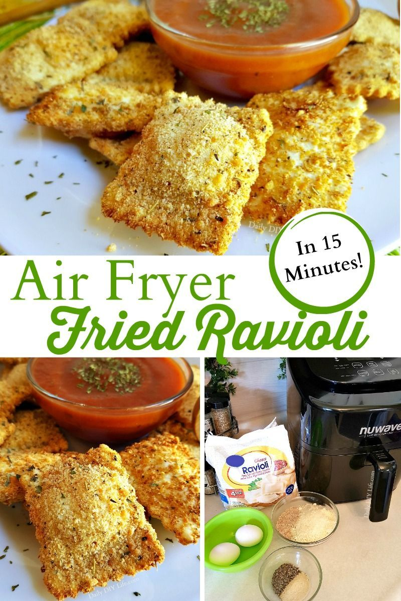 Ravioli In Just 15 Minutes - Quick and Easy Air Fryer This easy air fryer recipe for Fried Ravioli is the perfect appetizer for your next party or dinner menu. Best of all it takes just 15 minutes. These crispy little treats are packed with flavor and is sure to satisfy a crowd. Make up a batch today with this easy 15