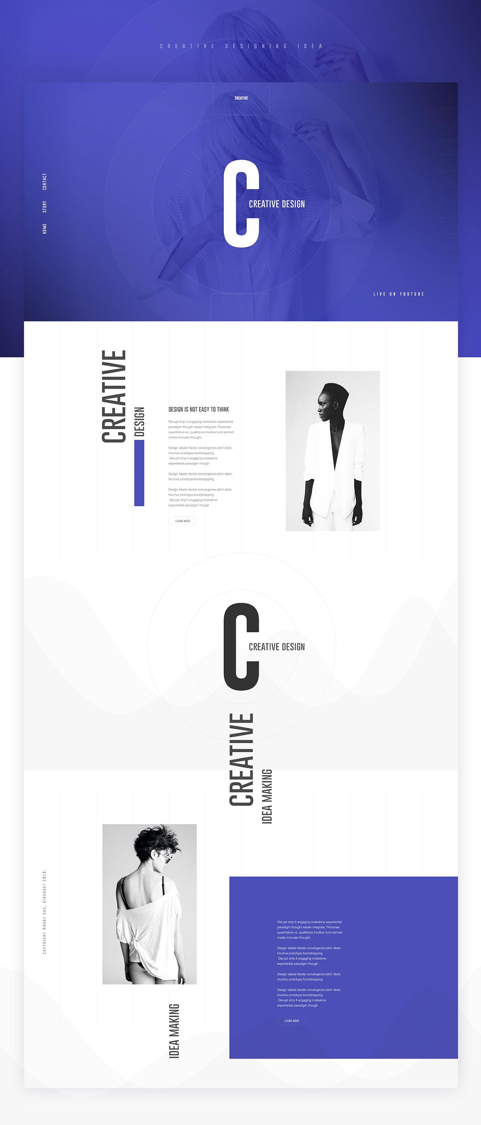 Creative design u ui design concept landing page by razz das