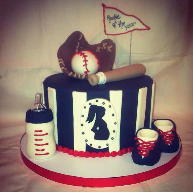 Baseball Baby Shower Cake