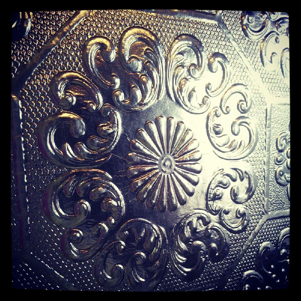 Pressed tin replica wallpaper