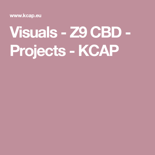 Visuals - Z9 CBD - Projects - KCAP