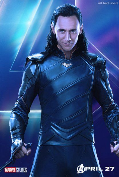 tom hiddleston as loki laufeyson | avengers infinity war | marvel