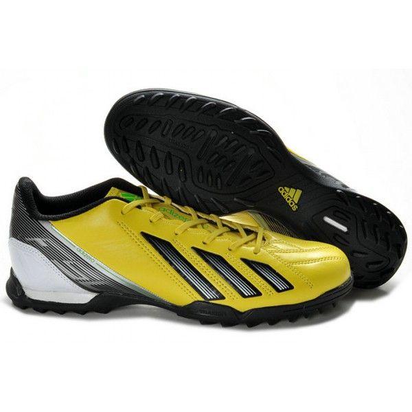 Adidas F10 TRX TF Turf Football Shoes Yellow Black Silver