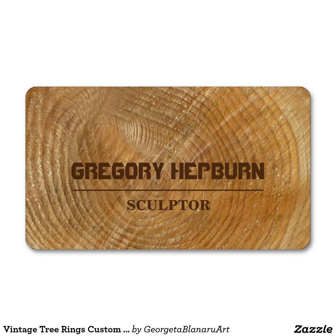 Vintage Tree Rings Custom Monogram Business Card Work And Business
