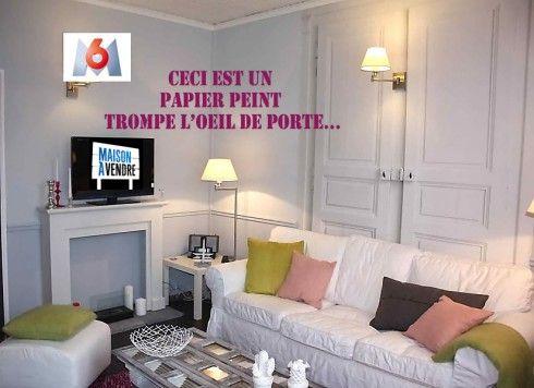 papier peint trompe l 39 oeil double porte http www. Black Bedroom Furniture Sets. Home Design Ideas
