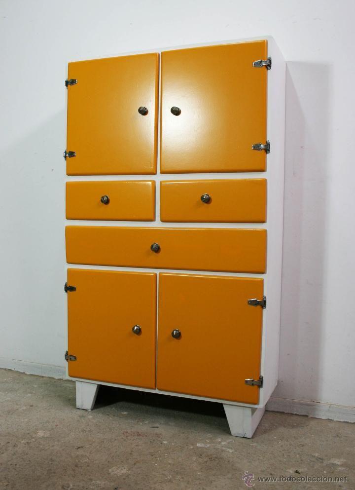 Alacena, aparador, armario, mueble de cocina retro, vintage ...