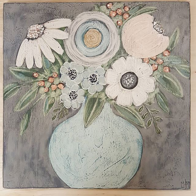 I Dropped Off Some New Paintings At Thefoundcottage Earlier Today I Met A Great Gal And Her Husband From Flint Who Floral Painting Flower Art Flower Painting