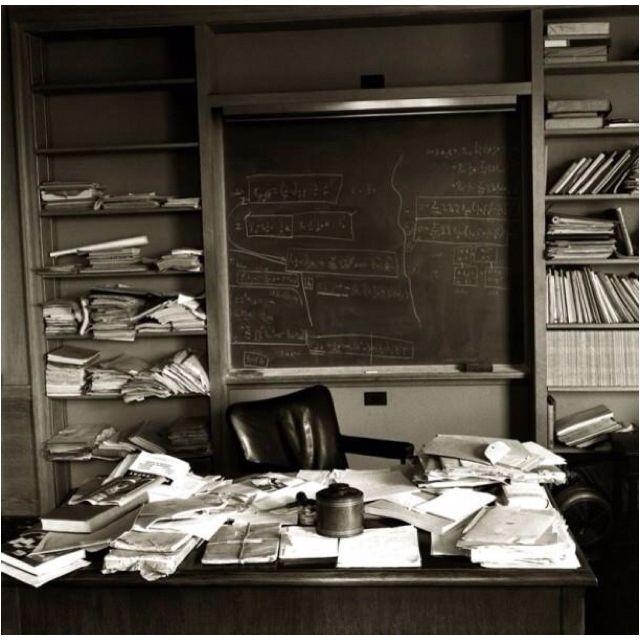 Albert Einstein's desk the day he died.