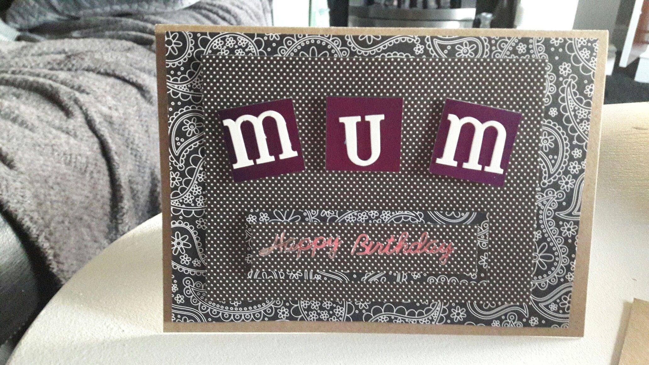 Mum Birthday Card Cards Pinterest Cards